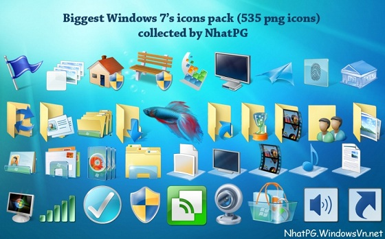 free windows 7 icon pack for xp