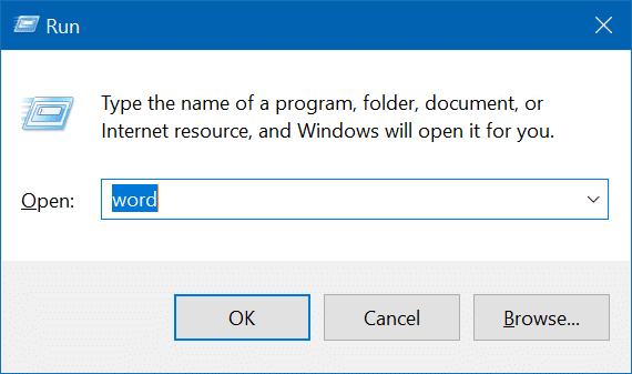 Create run command shortcut for programs in Windows 10