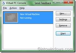 Virtual PC Conslole