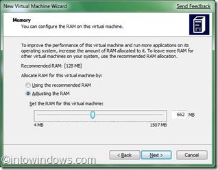 Virtual PC RAM