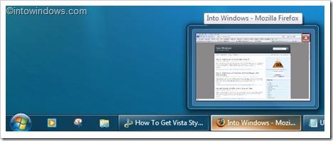 Vista style taskbar