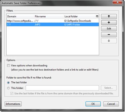 Automatic Save Folder Preference