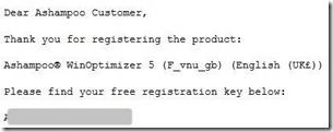 Get Ashampoo WinOptimizer For Free! Licensekey-1