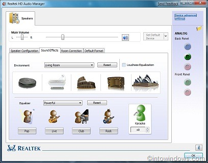 Realtek alc260 high definition audio