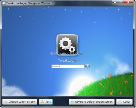 Logon screen background utility