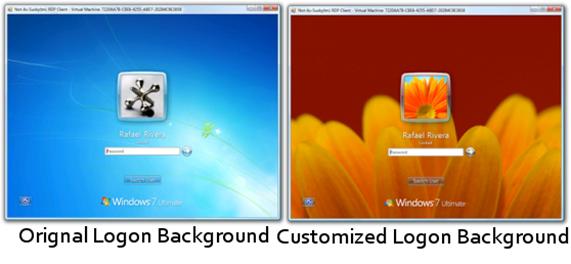 Windows 7 logon background
