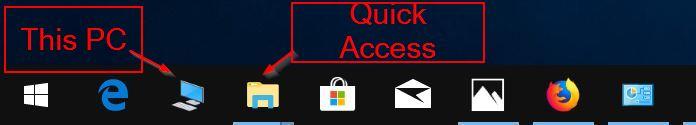 pin this pc to Windows 10 taskbar