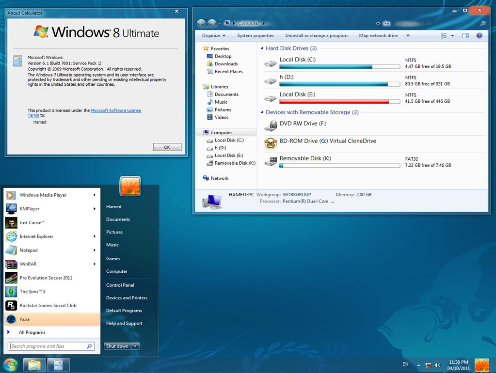Windows 8 transformation pack 3.1 for windows xp