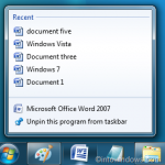 How To Enable/Disable Jump Lists In Windows 7