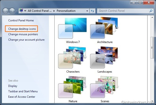 how to change desktop icons in windows 7