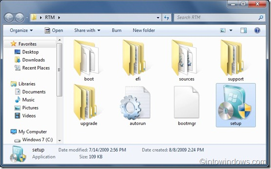 windows 7 rtm setup