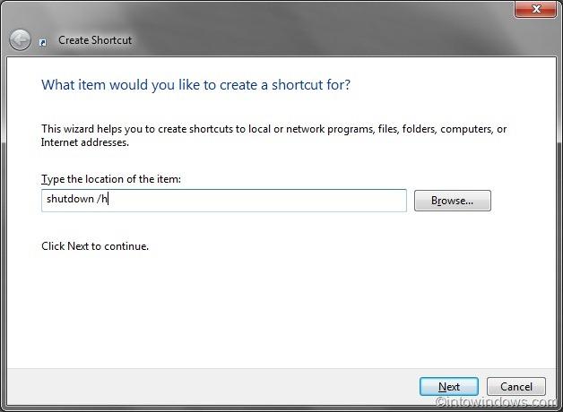 shutdown key shortcut windows 7