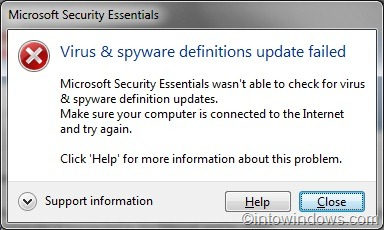 How To Update Microsoft Security Essentials (MSE) Offline