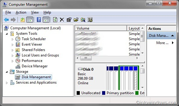 how to delete unallocated partition in windows 7