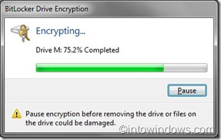 BitLocker Enryption process