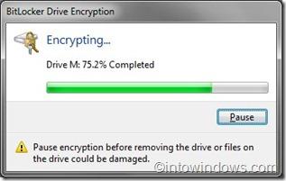 BitLocker Enryption process