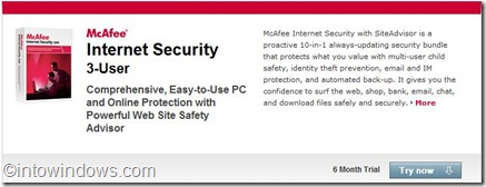 mcafee offer page trial now