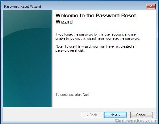 How To Use Password Reset Disk In Windows 7