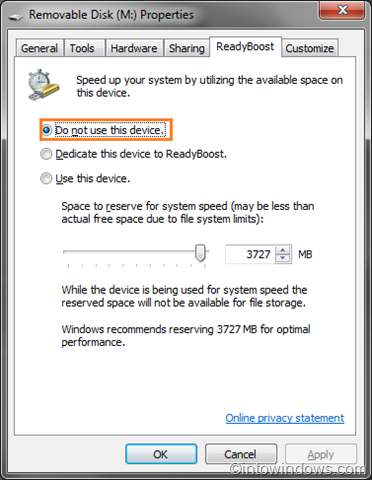 How To Turn ReadyBoost Feature On/Off In Windows 7