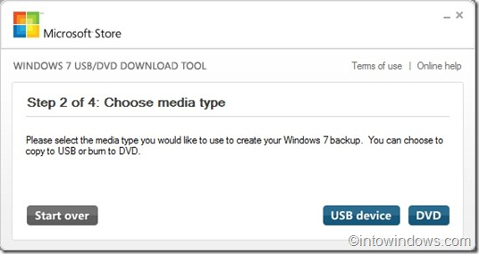 windows 7 usb tool step 2