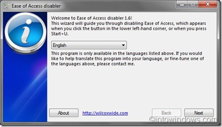 Ease of Access Disabler