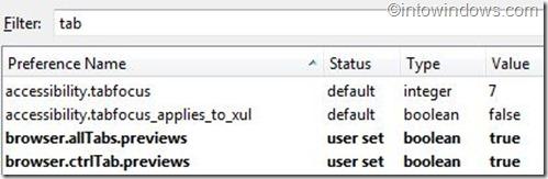 browser tab