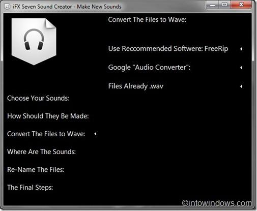 convert sound files