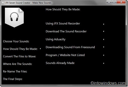 how to create an audio file in windows 7
