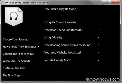 create sound scheme