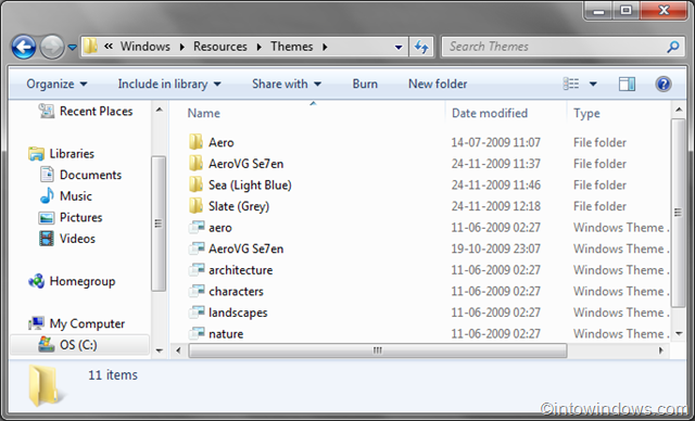 Install/Apply Third Party Themes In Windows 7 pic2