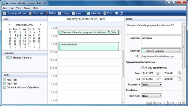 Download Windows Calendar For ...