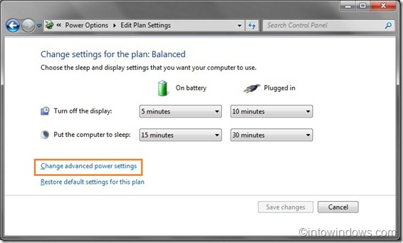 edit power plan settings