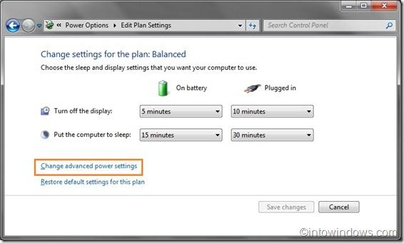 edit power plan settings