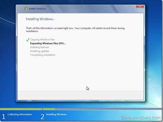 installing windows