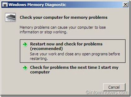 memory diagnostics