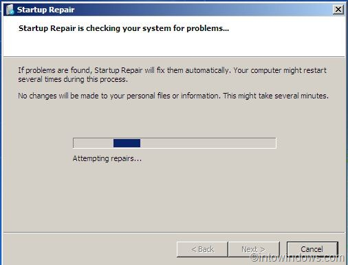How To Repair Windows 7 Boot Problems Using Startup Repair
