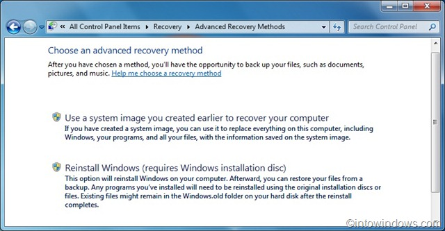 manually replace windows 7 system files