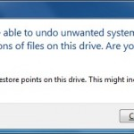 How To Delete All Restore Points Without Disabling System Restore Feature In Windows 7