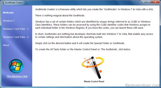 God mode creator for Windows OS
