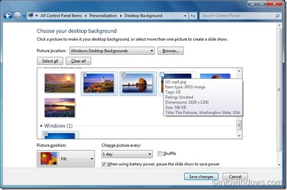 change Windows 7 desktop background