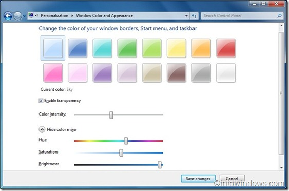 customize window color 2