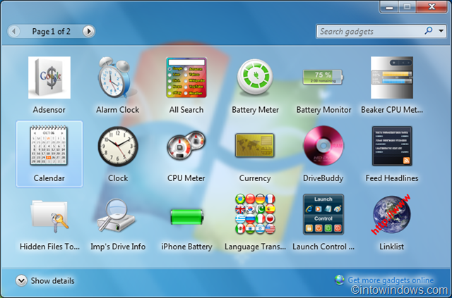 Windows 7 forex desktop gadget