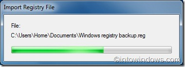 Backup and restore windows 7 registry file