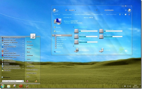 Full Transparent Glass for Windows 7