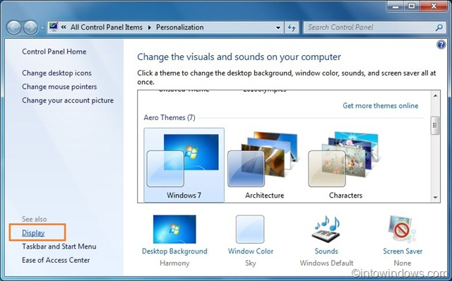 how to change the font on computer screen windows 7