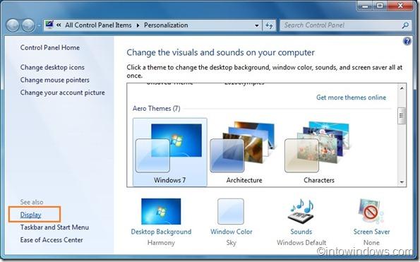 how to turn on screensaver windows 7