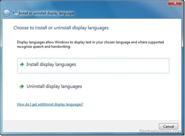 Install language packs in windows 7