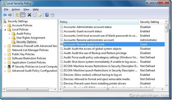 Rename Guest Account in Windows 7
