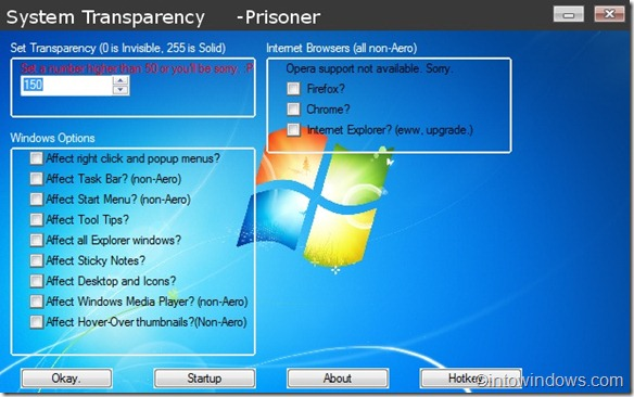 System Transparency for Windows 7