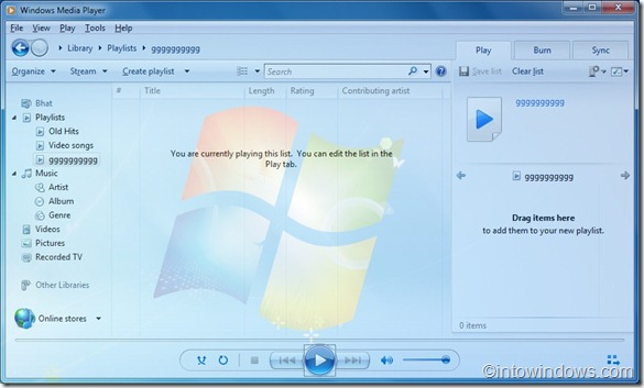 Transparent Windows Media Player